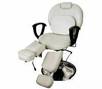 Кресло для педикюра на гидравлике белое ZD-346