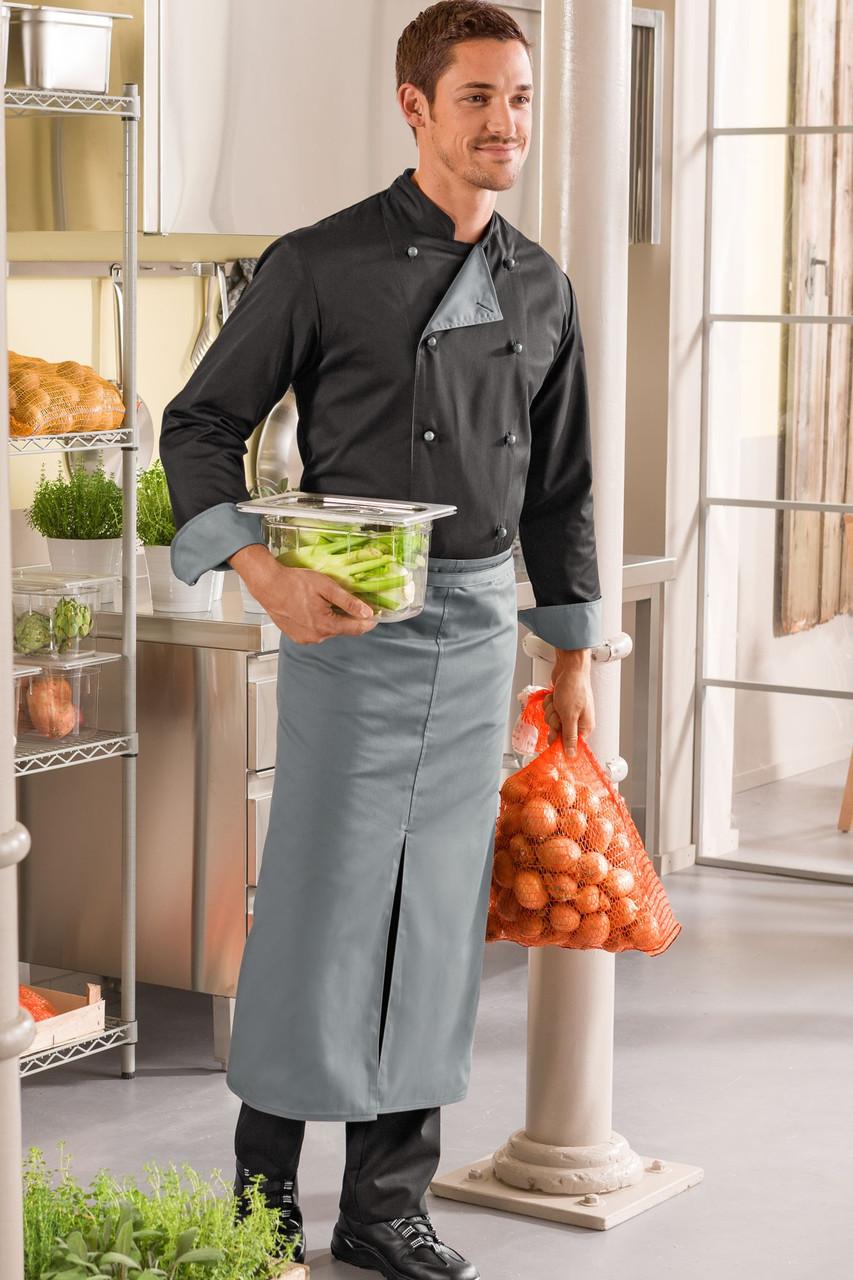 Передник повара, официанта и бармена TEXSTYLE двухсторонний с разрезом