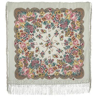 Песня Леля 1577-2, павлопосадский платок шерстяной  с шелковой бахромой