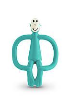 Игрушка-прорезыватель Matchstick Monkey (цвет зеленый, 10,5 см)