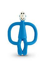 Игрушка-прорезыватель Matchstick Monkey (цвет синий, 10,5 см)