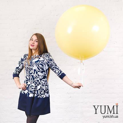 Стильный гелиевый шар-гигант цвета айвори, фото 2