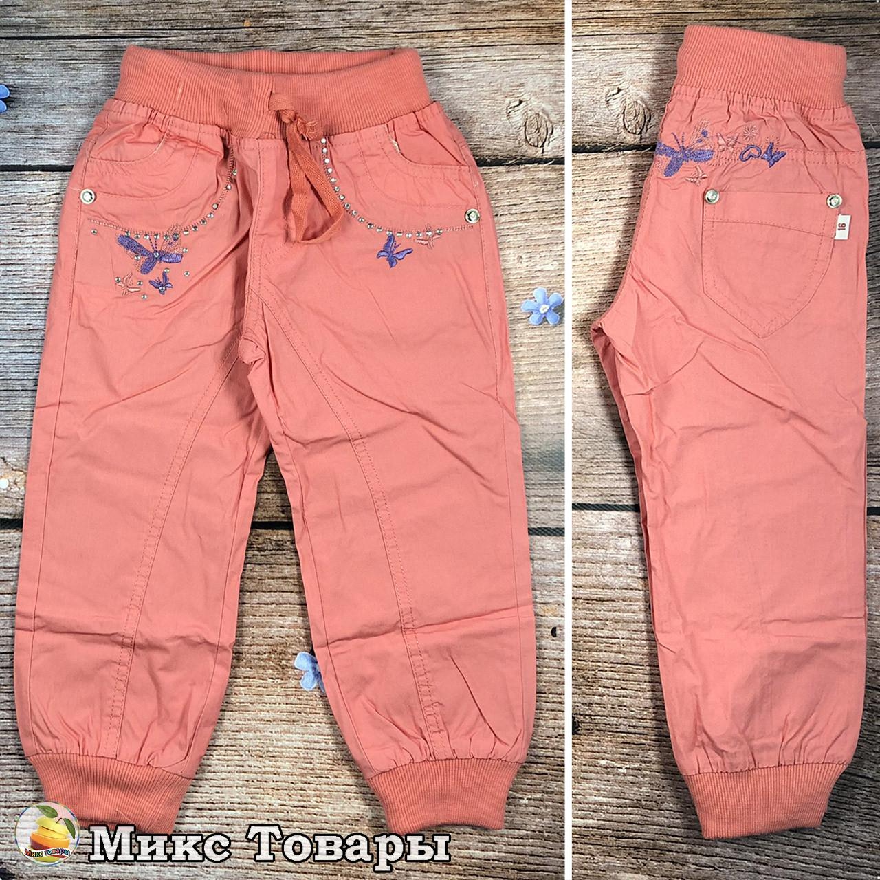 Летние облегчённые спортивные штаны для девочек Размеры: 3,4,5,6,7,8 лет (8311)
