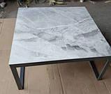 Стол журнальный BRIGHTON S (90х90х45 см) керамика светло-серый глянец Nicolas (бесплатная доставка), фото 6