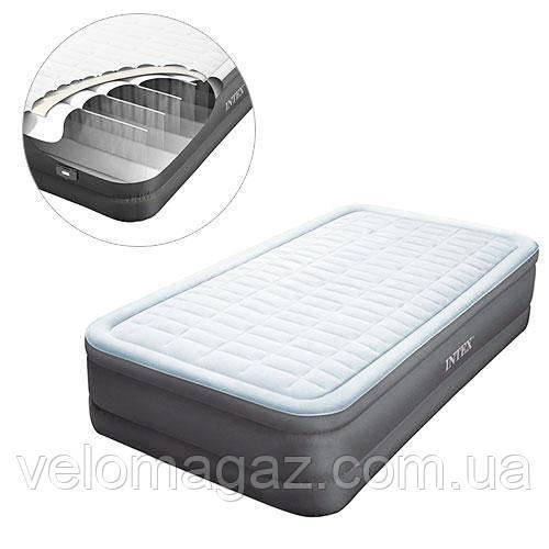 Надувная кровать 99*191*46 см с встроенным насосом Intex 64482