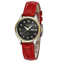 Часы Guanqin Gold-Black-Red GQ80007-AV CL