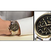 Часы Guanqin Gold-Black-SilverGold GQ12001 CS