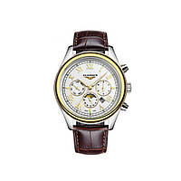 Часы Guanqin Gold-White-Brown GQ12001-2A CL