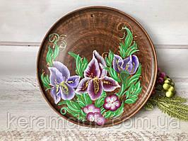 Настенное панно с ручной росписью Лилия