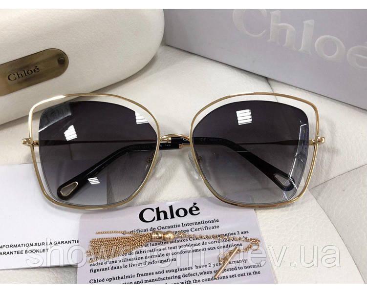 Солнцезащитные очки в стиле Chloe (133s) LUX grey