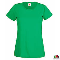 Футболка женская L Lady-Fit Valueweight-T Fruit of the Loom Зеленый - за 1 шт, цены от 2 шт внутри