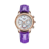 Часы Guanqin Gold-White-Purple GQ15001 CL