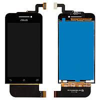 Дисплейный модуль (дисплей + сенсор) для Asus ZenFone 4 (A400CXG), черный, оригинал