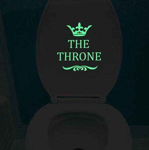 """Наклейка люминесцентная """"The throne"""" - размер 20*9см, (поглощает свет и светится в темноте)"""