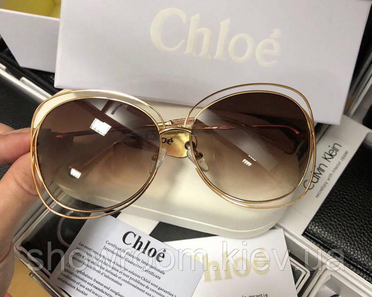 Солнцезащитные очки в стиле Chloe (117s) LUX brown