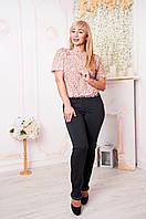Стильные женские брюки с манжетами Хилари черные