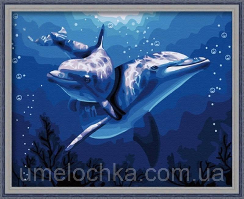 Набор для рисования Идейка Два дельфина 40х50см (KH056)