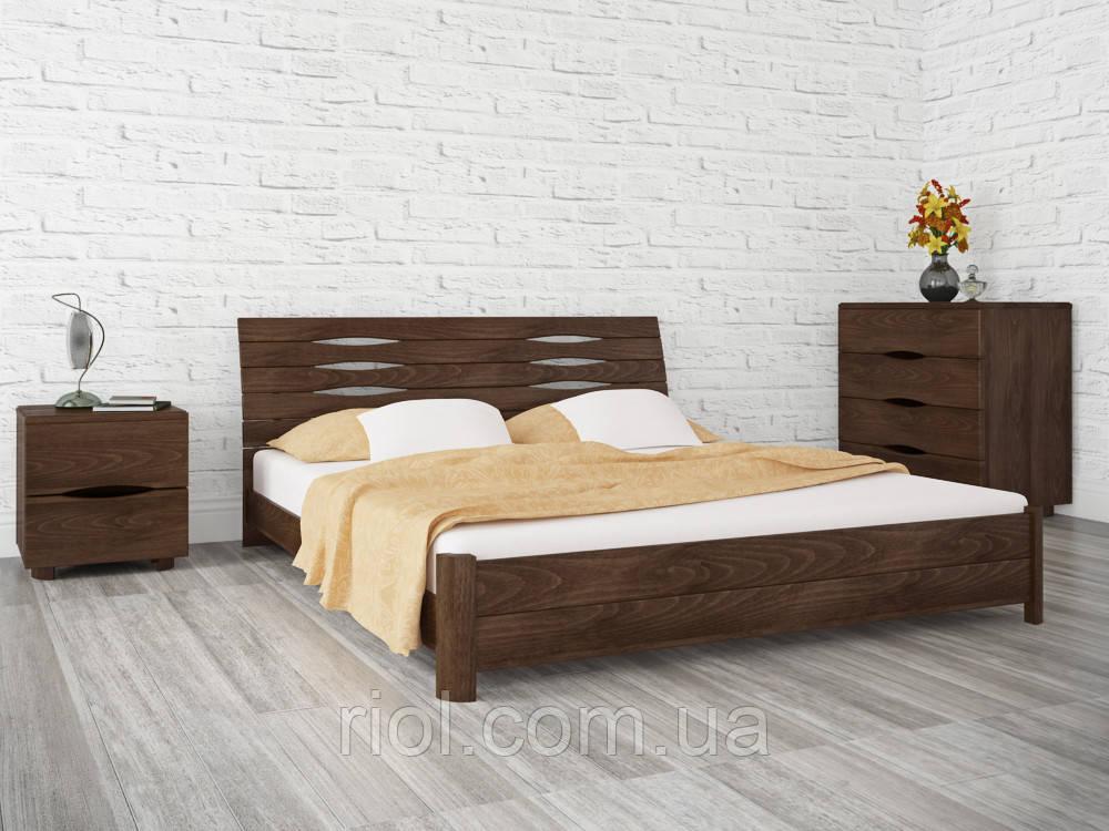 Двоспальне ліжко з бука Маріта S ТМ Олімп