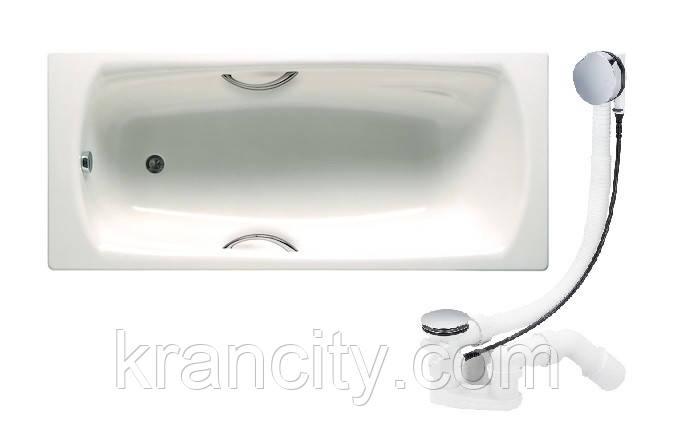 Ванна ROCA SWING 180*80 см, с ручками + Сифон Viega Simplex для ванны, автомат
