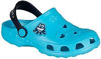 Клоги детские Little Frog, Coqui, голубые с синим (23-24), фото 1