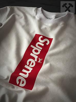 Свитшот белый Supreme by Louis Vuitton топ-реплика, фото 2