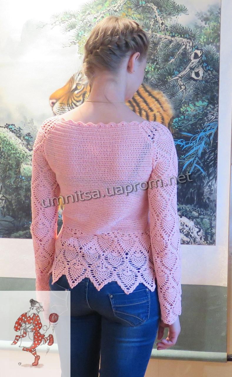 женская вязаная кофточка розовый бутон продажа цена в киеве