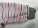 Костюм велюровый для девочки Lovely KİDS серый в полосочку (р. 74-104 см)(Nicol, Польша), фото 3