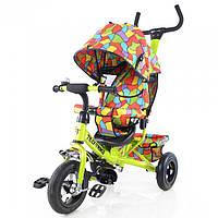 Велосипед детский трехколесный с крышей и надувными колесами TILLY Trike T-351-1 Light green (зеленый)