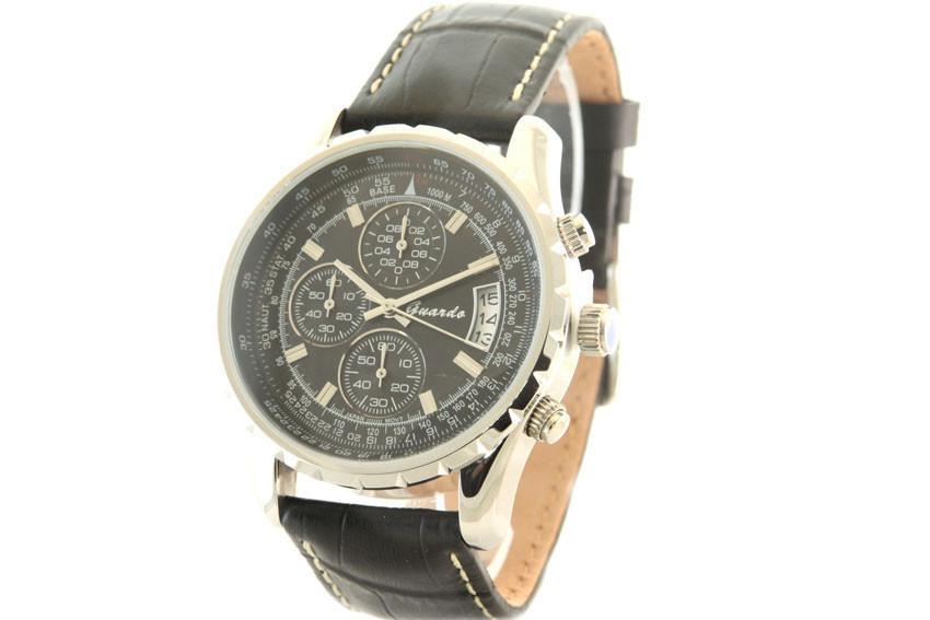 Мужские часы Guardo S02557R Сталь  + ПОДАРОК: Держатель для телефонa L-301