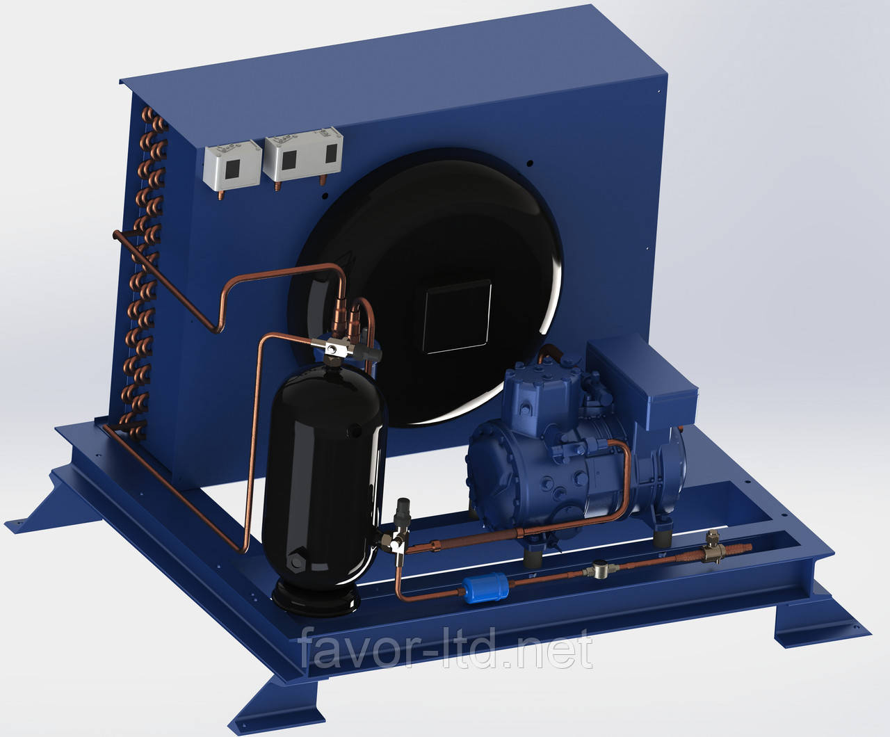 Компресорно-конденсаторний агрегат низькотемпературний Frascold LB14/ D2-13,1 Y