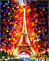 Раскраска по номерам Идейка Эйфелева башня 40 х 50 см KH076