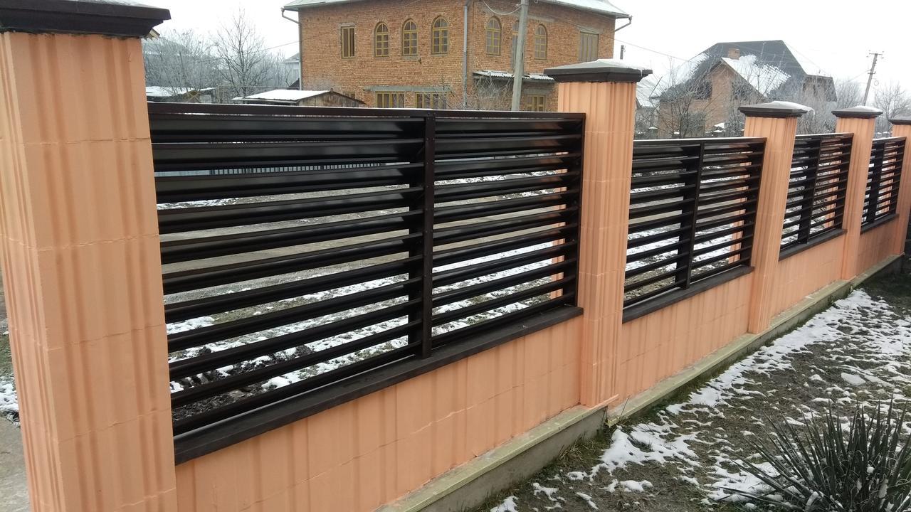 Забор жалюзи, одностороннее, двухстороннее покрытие Oberig