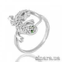 Серебряное кольцо Игуана 12350