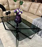 Стол журнальный LUTON R 125*70*44 см стекло дымка глянец Nicolas (бесплатная доставка), фото 2