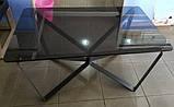 Стол журнальный LUTON R 125*70*44 см стекло дымка глянец Nicolas (бесплатная доставка), фото 3