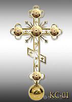 Хрест накупольний з напиленням нітрид титану КС - 01 (Висота 0,75 - 4,5м)