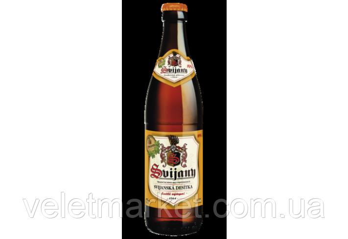 Чешское пиво Свияны 10(Svijanský Máz 11) светлое 0,5 л