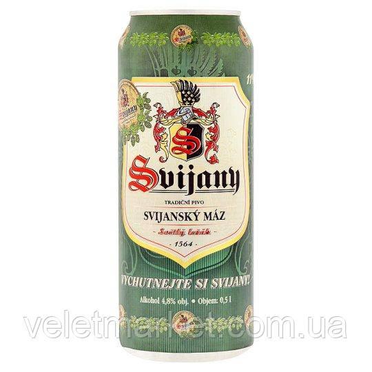 Чеське пиво Свиянский Маз 11 (Svijanský Máz 11) світле з/б 0,5 л