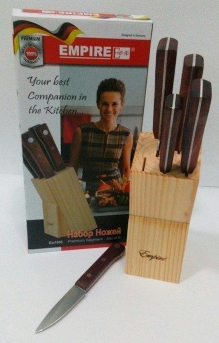 Ножи кухонные на подставке (набор 6 шт)