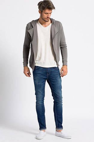 Блуза мужская серая с капюшоном, фото 2