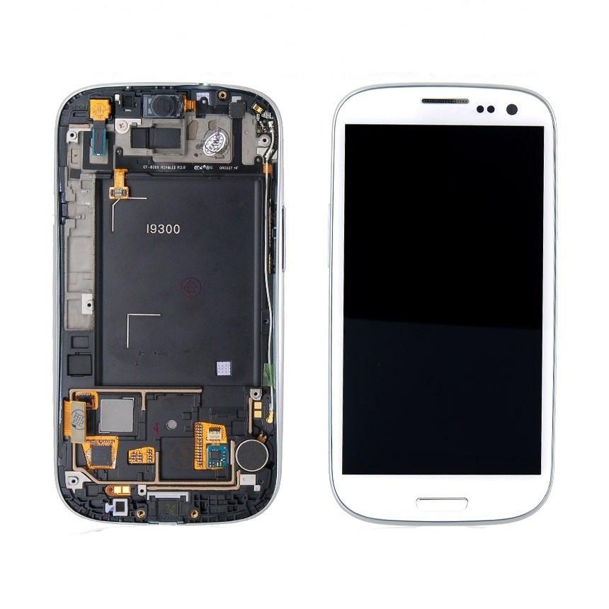 LCD экран+тачскрин Tina Samsung Galaxy S3 I9300 (2012) (TFT) с рамкой