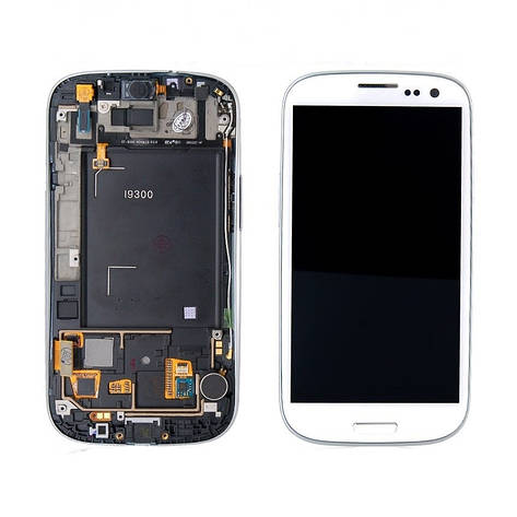 LCD экран+тачскрин Tina Samsung Galaxy S3 I9300 (2012) (TFT) с рамкой, фото 2