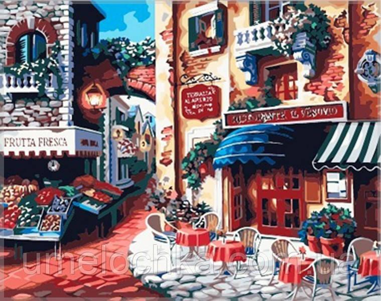 Картина по номерам Идейка Итальянская улица Вкус Италии 40 х 50 см Код:KH078