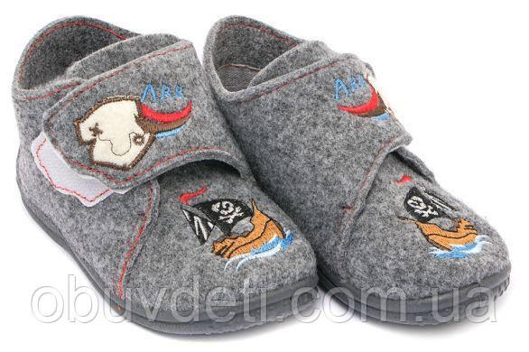 Детские мягкие тапочки для дома Zetpol Kuba gray 7149 26 (16,5 см)