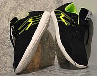 Кроссовки женские, подростковые AB Sport Energy ND. Черные кожаные женские кроссовки (нубук).