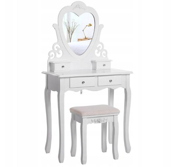 Туалетний столик Wooden Dresser S білий + табурет (3051)