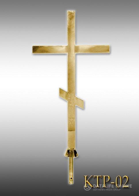 Хрест накупольний з напиленням нітрид титану КТР - 02 (Висота 0,75 - 4,5м)