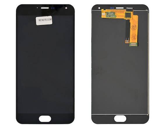 LCD екран+тачскрін Tina Meizu M2 Note ААА, фото 2