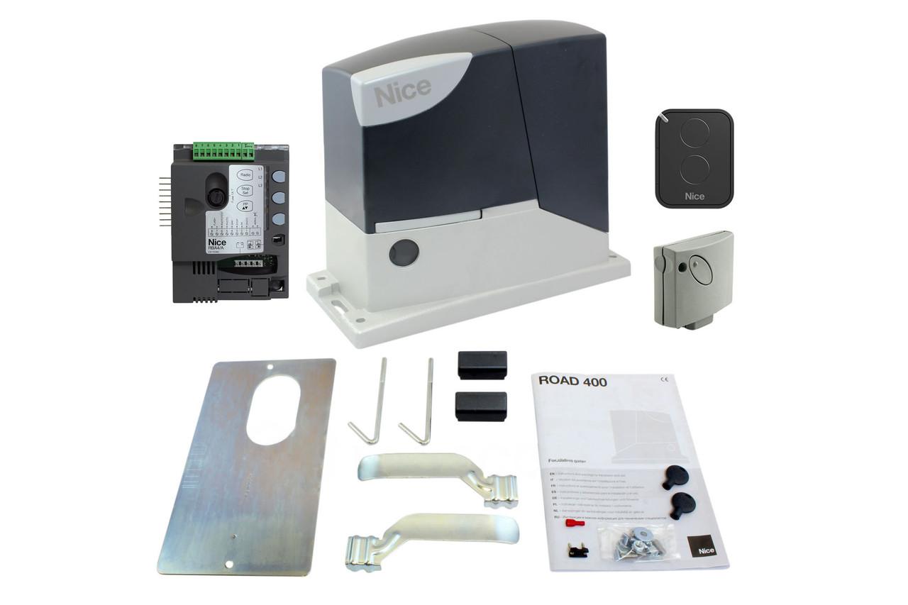 NICE RD400 KCE — автоматика для откатных ворот (створка до 400 кг)