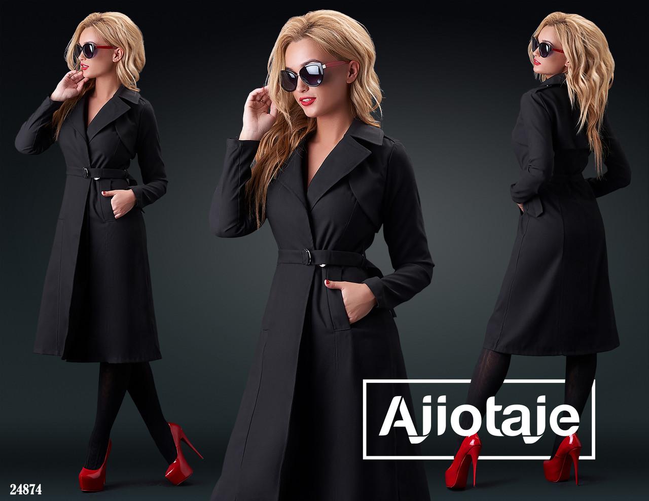 Пальто женское демисезон,норма-батал, р.S-M, L-XL   Ajiotaje